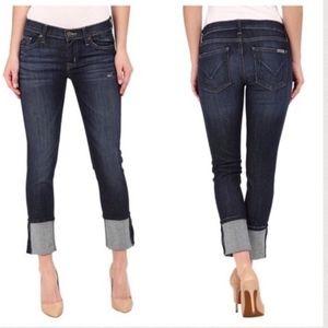 "Hudson Muse Crop Skinny w/ 5"" Cuff Jeans"
